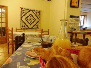 chambres d'hôtes Ardèche petit déjeuner terroir Blaches